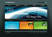 Vector business web site template 7