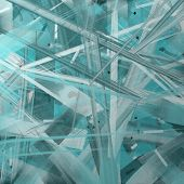 Fractured Abstract Art Background Design