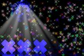 foto of swinger  - XXX With Disco Ball and Stars on Black Background - JPG