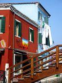 Venice Colourful Houses On Burano Island, Italy