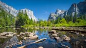 Yosemite Valley In Summer, California, Usa poster