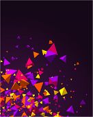 Fly colorful 3d pyramids vector background. Eps 10