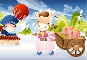 image of ox wagon  - New Year Concept - JPG