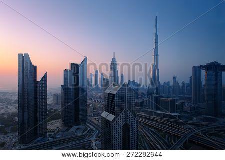 Dubai Skyline In The Morning