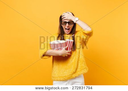 Scared Frustrated Woman With Closed