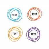 Rounded Shapes. Overlapping Rounds Icons. Overlapping Color Circle Vector poster