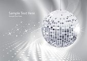 abstract background silver disco ball