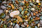 Sea pebble abstract natural background