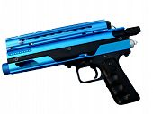 Blue Paint Ball Gun On White Background