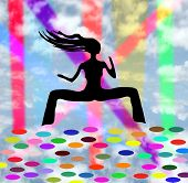 Bailarina del Club 7