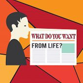 Word Writing Text What Do You Want From Lifequestion. Business Concept For Express The Things You Wo poster
