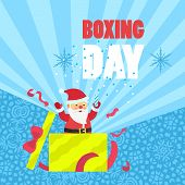 Boxing Day Sale Concept Background. Flat Illustration Of Boxing Day Sale Vector Concept Background F poster