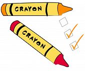 Crayons With To Do Checks