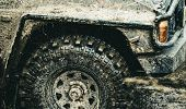 Forget About Driving On Smooth Tarmac. Car Racing Offroad. Offroad Car In Action. Dirty Car Drive On poster