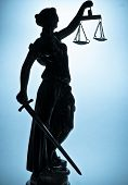 stock photo of judiciary  - Statue of justice - JPG