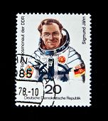 Germany - CIRCA 1978:  A stamp printed in Germany shows first German cosmonaut Sigmund Jahn, circa 1