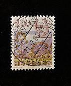 HELVETIA (Suiza) - alrededor de 1984: Un sello impreso en el HELVETIA muestra Signo Sagitario, circa
