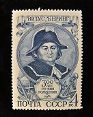 USSR - CIRCA 1981: A Stamp printed in the USSR shows portrait of the great Russian explorer Vitus B