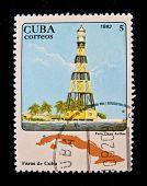 CUBA - CIRCA 1982: A stamp printed in the Cuba shows Light house, circa 1982