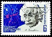 USSR - CIRCA 1979: A stamp is printed in USSR, Albert Einstein, circa 1979