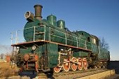 very old Russian locomotive