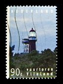 Netherlands - CIRCA 1990s: A stamp printed in Netherlands shows lighthouse Vlieland, circa 1990s