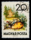 HUNGARY - CIRCA 1960: A stamp printed in Hungary shows an illustration of the Russian folk fairy tal