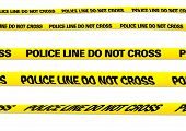 foto of crime scene  - several versions of a police line with clipping paths - JPG