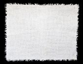 stock photo of rude  - White linen cloth as a background - JPG