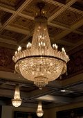 foto of flambeau  - Antique crystal chandelier - JPG