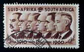 SOUTH AFRICA - CIRCA 1960: A stamp printed in South Africa shows Prime Minister Louis Botha, Jan Chr