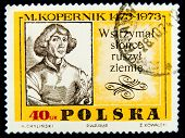 POLAND - CIRCA 1973 : stamp printed in Poland showing Nicolaus Copernicus, circa 1973