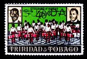 TRINIDAD AND TOBAGO - CIRCA 1969: A stamp printed in Trinidad and Tobago shows Calypso King and Road Marko King portraits, circa 1969