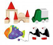 vector toys. set  4