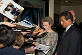 WESTWOOD, CA - DECEMBER 6: Actress Rachel McAdams signs autographs at the premiere of
