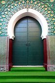 Traditional moroccan door in Tangier, Africa