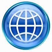 World Icon Blue