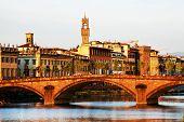 Bridge over Arno River, Florence, Italy,Europe