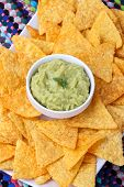 Guacamole With Corn Chips poster