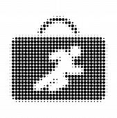 Career Case Halftone Dotted Icon. Halftone Pattern Contains Circle Pixels. Vector Illustration Of Ca poster