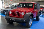 VALENCIA, SPAIN - DECEMBER 5: A 2011 Jeep Wrangler CRD on display at the 2011 Valencia Car Show on D