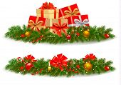 stock photo of polly  - Two christmas banners - JPG