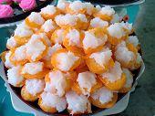 Ancient Thai Dessert, Thai Sweet Dessert And Ingredient In Bowl, Appetizer, Thai Dessert, Thai Food poster