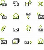 Green-Gray E-Mail Icons
