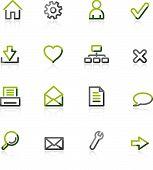 Green-Gray Web Icons