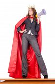 stock photo of superwoman  - Businesswoman in superwoman concept - JPG