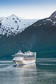 Cruise Ship In Inside Passage