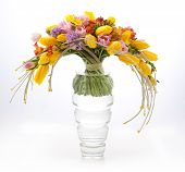 Floristry - Colorful Vernal Flowers Bouquet Arrangement