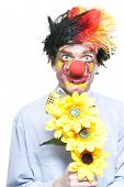 Isolated Clown In A Funny Summer Romance