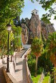 Bell Tower, Castle, Guadalest Village, Alicante, Costa Blanca, Spain